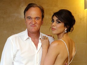 Quentin Tarantino and Daniella Pick at their engagement party in Tel Aviv.