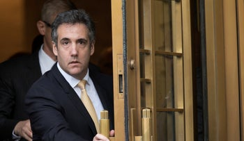 FILE Photo: Michael Cohen leaving Federal court, in New York, August 21, 2018.