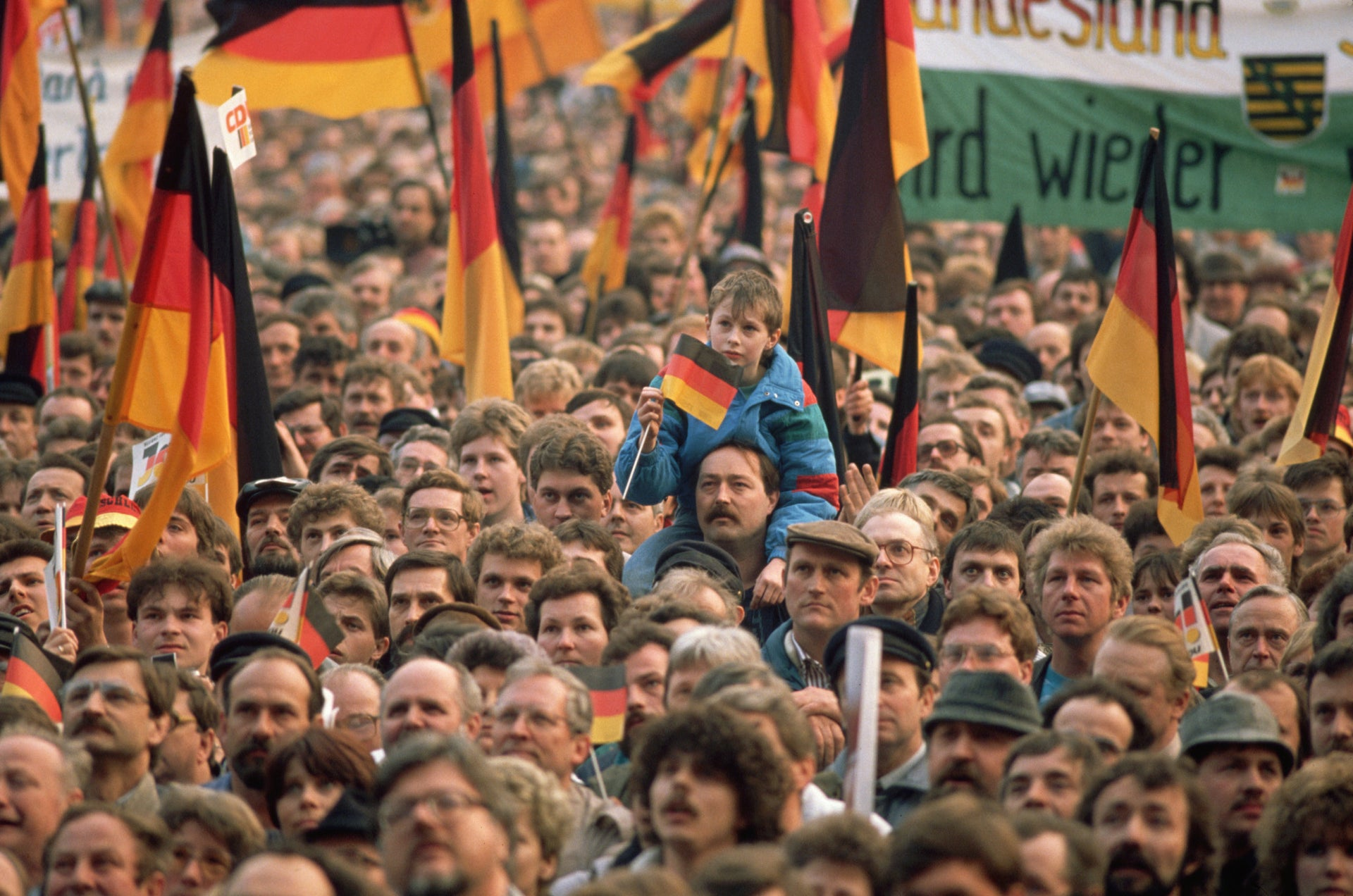 A demonstration in Leipzig, 1989.