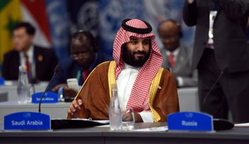 Saudi Arabia's Crown Prince Mohammed bin Salman attends the plenary session at the G20 leaders summit in Buenos Aires, Argentina, on December 1, 2018.