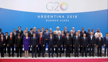 Leaders pose for a family photo during the G20 summit in Buenos Aires, Argentina November 30, 2018