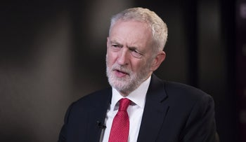 File photo: Labour Party leader Jeremy Corbyn, speaks during a Bloomberg Television interview, London, November 19, 2018.