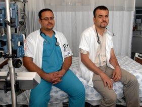 An Arab doctor who works at Rambam Hospital in Haifa, who was detained for security checks at the Bat Galim train station in Haifa because he did not have an identity card, in 2007.