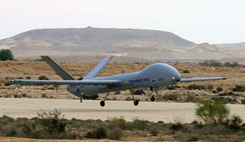 An Elbit Hermes 900 unmanned aircraft, March 8, 2017.