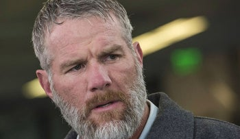 Brett Favre, former quarterback for the Green Bay Packers, speaks during a Bloomberg Radio interview in San Francisco, California, U.S., on Friday, Feb. 5, 2016