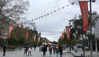 Students attend the University of Sydney open day in Sydney, Australia August 25, 2018.