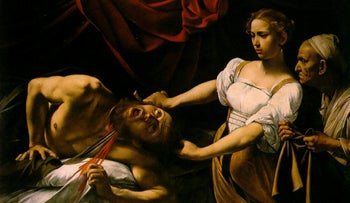 Judith Beheading Holofernes by Caravaggio. Judith had courage and bravery in spades, and today, in her honor, it's customary to eat dairy on Hanukkah.