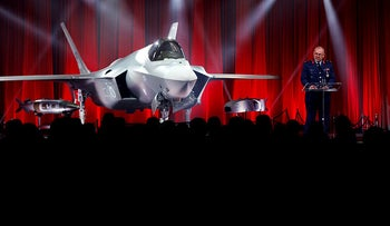 Turkey takes delivery of its first F-35 fighter jet with a ceremony at the Lockheed Martin in Forth Worth, Texas, United States, on June 21, 2018.