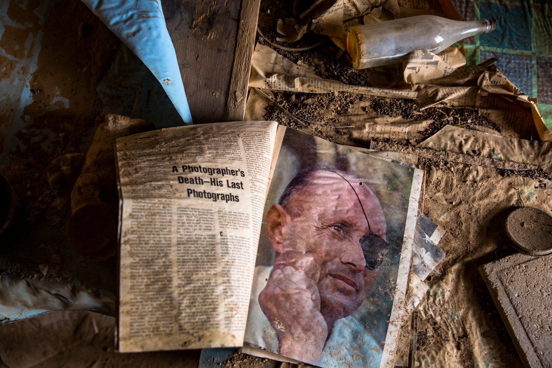 A book inside a deserted church in an area recently cleared of mines and unexploded ordnance in a project to clear the area near Qasr Al-Yahud, a traditional baptism site along the Jordan River, near Jericho in the occupied West Bank, December 9, 2018.