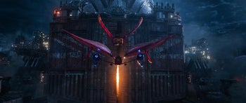 """A dogfight between a hyper-sophisticated plane and a hot-air balloon is routine in """"Mortal Engines."""""""