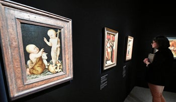 """The painting """"The Persian"""" by Oskar Kokoschka is on display at the Bundeskunsthalle museum. The exhibition presents some 250 art works from the 1,500-piece collection of collector Cornelius Gurlitt, including some likely looted from Jewish owners."""