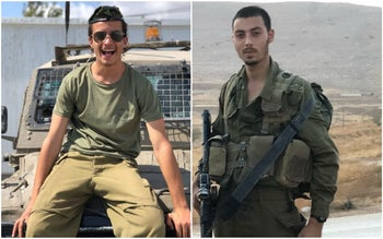 Yossi Cohen and Yovel Mor Yosef, who were killed in the shooting attack at Givat Assaf in the West Bank on December 13, 2018.