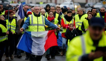 The 'Yellow Vests' protests in France, December, 2018.