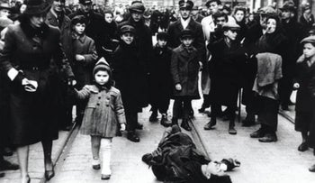 Jews in the Warsaw Ghetto during World War II.