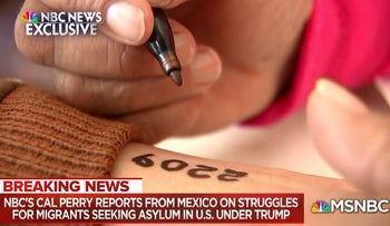 Image from MSNBS report on migrant centers in Mexico