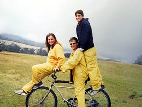 File photo: Asaf, Ilan and Rona Ramon in a vacation in Hawaii, 2002.