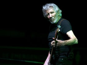 Roger Waters performs at the Sports Palace in Mexico City on November 28, 2018.