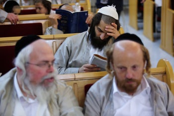 An Orthodox yeshiva in Kiryat Gat. Christian yeshivas are mostly online at present, but it is possible to do Bible studies in classes run by Orthodox rabbis.