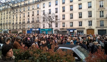 FILE PHOTO: Thousands marching in Paris in memory of slain Holocaust survivor Mireille Knoll, whose murder stemmed from anti-Semitic motives, on March 28, 2018.