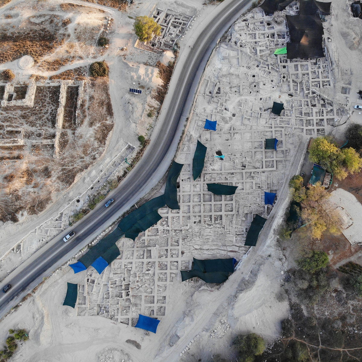 The excavations along either side of Route 38, at Tell Beit Shemesh