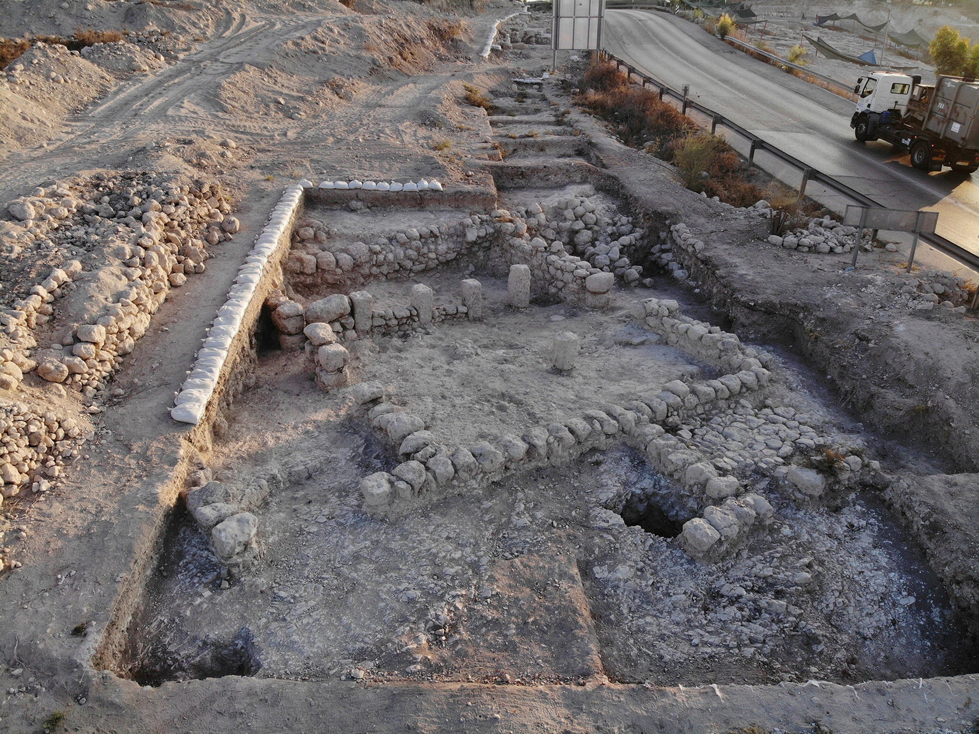 One of the areas that was excavated
