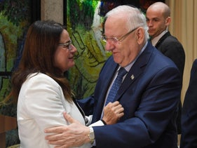 FILE Photo: Rona Ramon and President Reuven Rivlin, 2017.