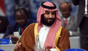 Crown Prince Mohammed bin Salman during the G-20 Summit in Buenos Aires, Argentina, December 1, 2018.