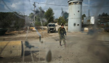Focus checkpoint near the West Bank settlement of Beit El, 2014