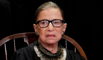 FILE PHOTO: U.S. Supreme Court Associate Justice Ruth Bader Ginsburg at the Supreme Court in Washington, U.S., November 30, 2018