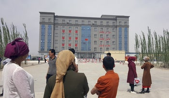 Internment camp in the outskirts of Hotan