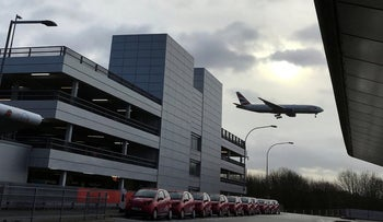 A plane comes in to land as flights resume at Gatwick Airport in London, December 21, 2018.