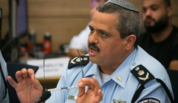 File photo: Police Commissioner Roni Alsheich during a Knesset discussion, October 16, 2018.