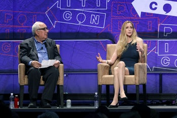 "Ann Coulter participates in the ""AAA: Ask Ann Anything"" panel at Politicon at the Los Angeles Convention Center. Oct. 20, 2018"