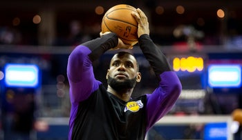 File photo: LeBron James warms up before an NBA basketball game on December 16, 2018.