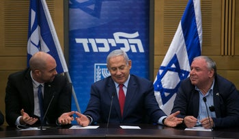Prime Minister Benjamin Netanyahu in a press conference announcing early elections, December 24, 2018.