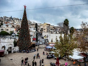 A Christmas tree in Nazareth.
