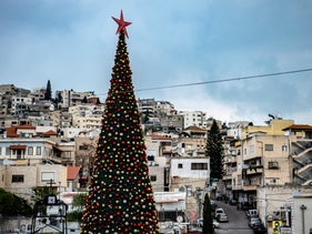 Christmas in Nazareth, Israel, December 23, 2018.