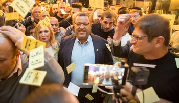 Leon celebrating after winning the first round of elections in October, 2018.