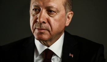 Recep Tayyip Erdogan, Turkey's president, poses for a photograph following a a Bloomberg Television interview in London, U.K. May 14, 2018