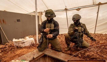 Israeli troops operating along the border with Lebanon earlier this week.
