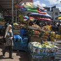 Al-Bireh central wholesale market in Ramallah, West Bank, on Sunday, March 25, 2018.
