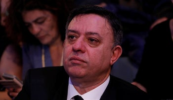 Avi Gabbay attends a memorial service for the late writer Amos Oz, December 31, 2018.