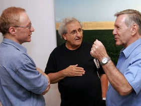 Israel's literary trio (from left), David Grossman, A.b. Yehoshua and Amos Oz, in 2006.