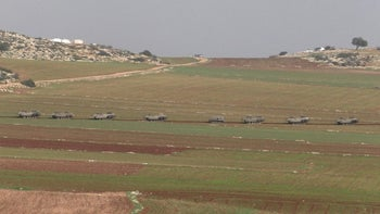 IDF tanks near Khirbet Ibzik in December 2018.
