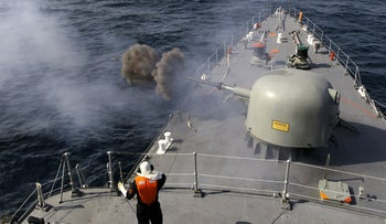 """FILE PHOTO: Iranian navy conducts the """"Velayat-90"""" naval wargames in the Strait of Hormuz in southern Iran on January 1, 2012"""