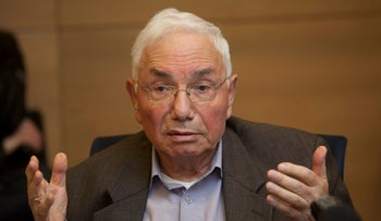 Retired Supreme Court Justice Eliyahu Matza who served on the high court from 1991 to 2005.