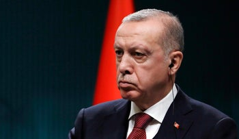 Turkey's President Recep Tayyip Erdogan during a news conference in Ankara, Turkey, January 3, 2019.