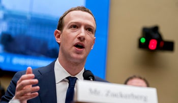 Facebook CEO Mark Zuckerberg testifies before a House Energy and Commerce hearing on Capitol Hill in Washington, on April 11, 2018.