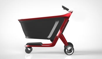 A simulation of the shopping cart.