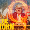QAnon meme showing Trump at the heart of the 'storm' against the 'Deep State cabal' that has enslaved Americans